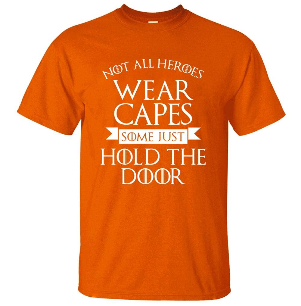 Игра престолов не все герои одежда Накидки, некоторые просто держать дверь забавные Для мужчин футболка 2018 хлопок летом мужской футболки дл...