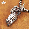 Vintage Goat of Mendez  Pentacle stainless steel Aries and double snake pendant  for  Men and women necklace
