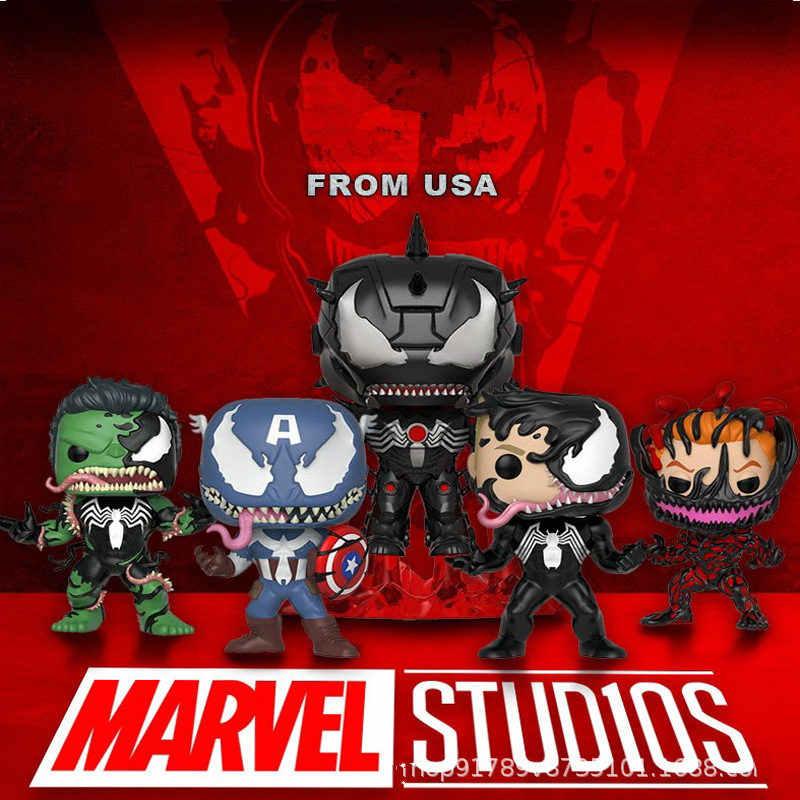 FUNKO POP Новые Мстители: Endgame Carnage Venomized Халк Железный человек Капитан Американский фигурка игрушки для детей Рождественский подарок