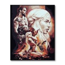 Игра престолов постер фильмы краска по номерам на рисунок на холсте по номерам наборы ТВ Играть краска ing по номерам
