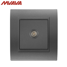 MVAVA TV Wall Decorative Receptacle Smart Television Outlet Universal Plug Luxury Champagne PC Black Panel Socket Free Shipping