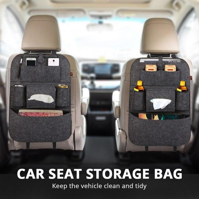 1PC Multipurpose Larger Space Car Backseat Trunk Organizer Hanging Cargo Bag Auto Storage Tidying Car-Styling for Vans, SUVs