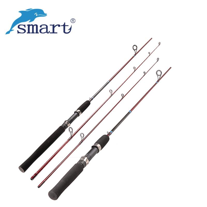 Smart 2Section Fishing Rod 1.68m / 1.8m Carbon M / L Carp Fish Stand Stožár Vara Cana De Pesca Spinning Rod Guide Peche