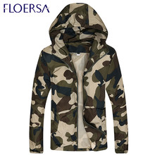 Spring/Autumn Men Camouflage Jacket Cardigan Windbreaker Jacket and Coat Men Camouflage Military Plus Size Manteau Homme #ZQ7240