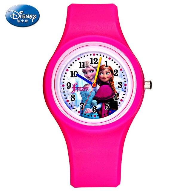 Children Quartz Wristwatches Disney brands waterproof Frozen Boys Silicone Cartoon  Child girl watches relogio clocks