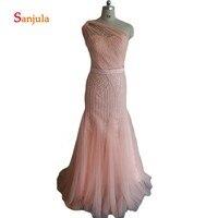 Одно плечо роскошный Свадебная вечеринка платье для дам Потрясающий бисером и блестками платья подружек невесты с открытой спиной Вечерни