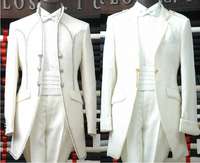Free shipping ! Men's clothes brand fashion royal men's clothing the groom married set long design wedding dress / M XXL