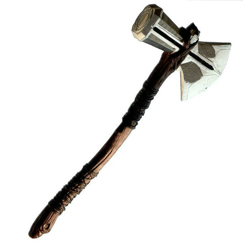 73cm Cosplay Weapons 1:1 Thor Axe Hammer 73cm Cosplay Weapons Movie Role Playing Thor Thunder Hammer Axe Stormbreaker Figure Mod(China)