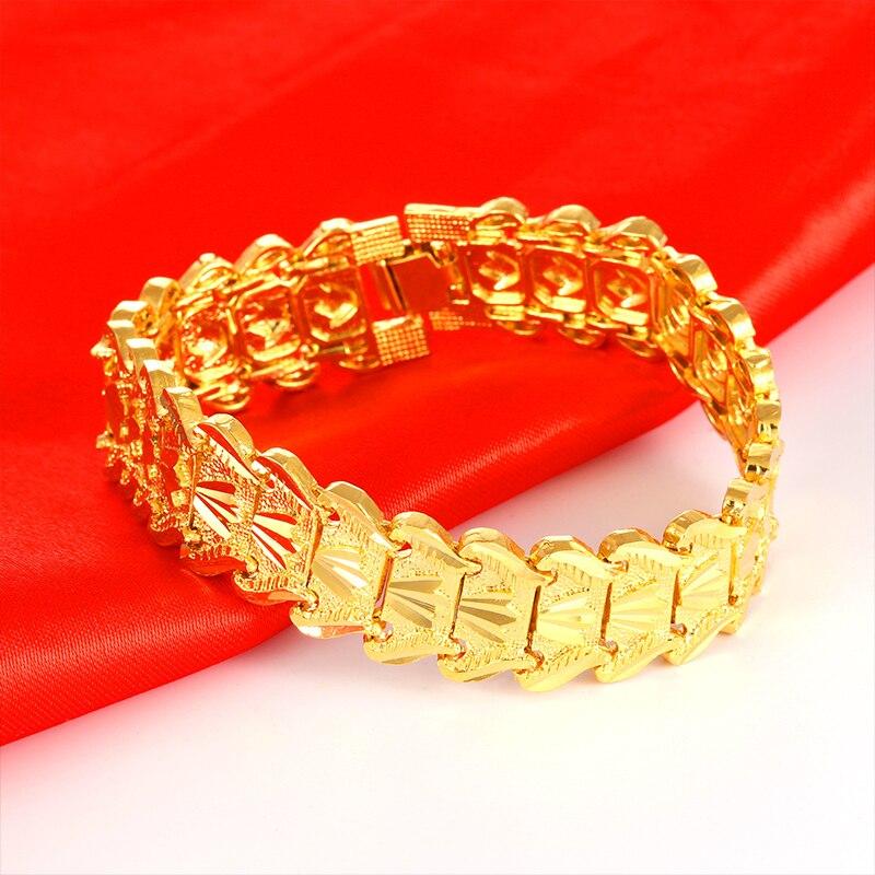 Topkeeping Brand Fashion Men Bracelet Gold Color Bracelet Bangle Male Accessory Hip Hop Party Rock Jewelry