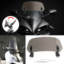 Accessories Deflector Protector Windscreen Clip-on Professional Waterproof Spoiler Universal Adjustable Risen Motorcycle #723