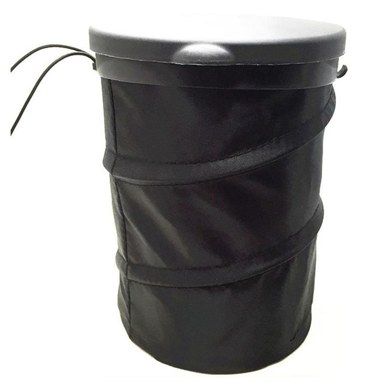 Foldable Car Garbage Trash Wastebasket Can Dust Case Bin Bag Litter Container