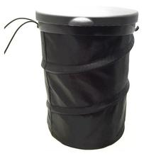 Dust-Container Car-Trash-Can Vorcool Collapsible Garbage-Bags Waterproof with Lid White