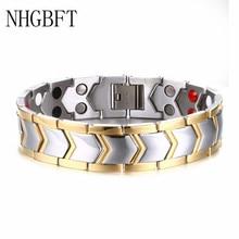 NHGBFT High quality Mens Healthy magnetic bracelet New Fashion Bio Energy Magnetic bracelets & bangles Dropshipping
