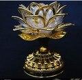 Led de colores de Lotus lámpara buda máquina suministros budistas de doble uso plug in de la batería LED flor de loto romántica boda Decorat
