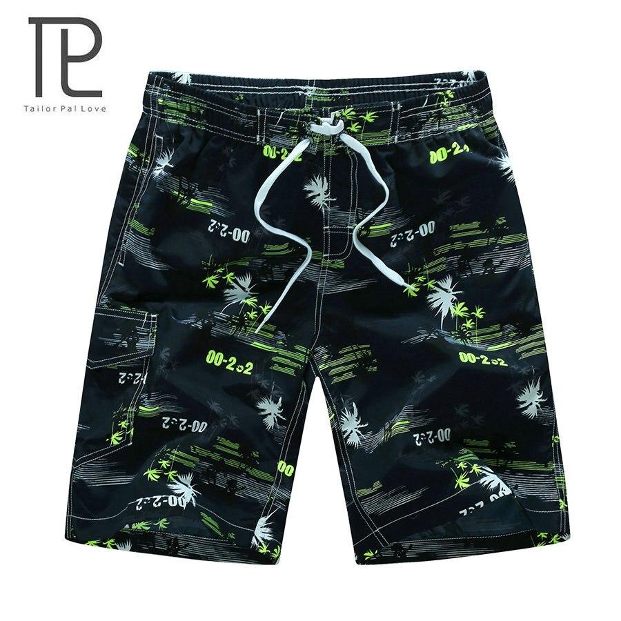 tailor pal love new arrivals fashion men beach shorts printed quick dry summer shorts 3 colors M-6XL CYG222