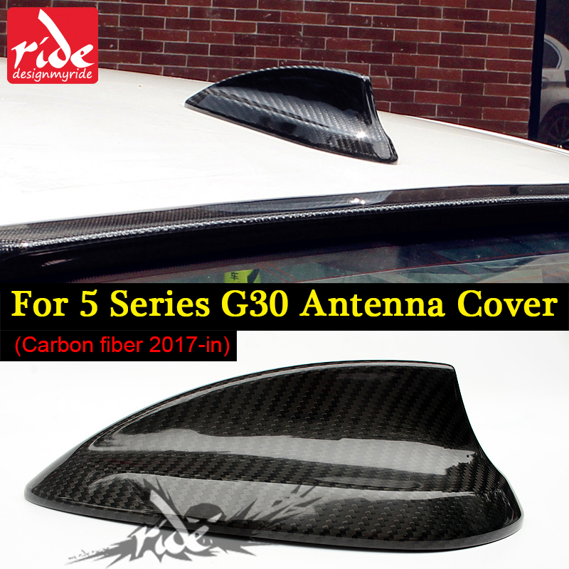 <font><b>G30</b></font> Roof Shark Fin Antenna Cover Carbon Fiber B-Style For <font><b>G30</b></font> <font><b>520i</b></font> 525i 528i 530i 535i 540i 550i Antenna Cover Shark Fin 2017-in image