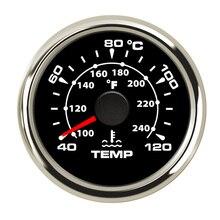 Прибор для измерения температуры воды с подсветкой, 7 цветов, 52 мм, прибор для измерения температуры воды в автомобиле, 40~ 120 градусов цельсия