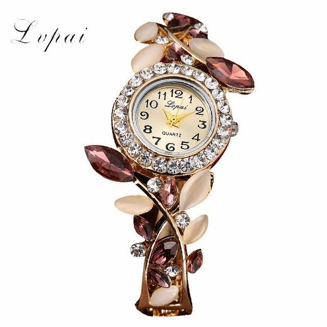 LVPAI Women Watch 2019 Fashion New Arrival Luxury Rhinstone Elegant Lady Watches Women Hot Sale Bracelet Watch drop ship