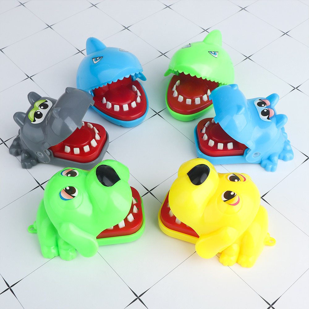 2019 New Creative Mini Size Dog/Hippo/Shark Big Mouth Dentist Bite Finger Game Funny Gags Toy For Kids Play Fun Novelty Gifts