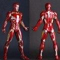 Juguetes locos Superhero Ironman Mark XLV Edición Limitada Iron Man Figura de Acción de Muñeca de PVC Anime Colección Modelo de Juguete 25 cm