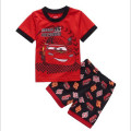Baby boys girls kids clothing set  children Pajamas pyjamas cartoon car summer short sleeve sleepwear suits costumes 2-7 years