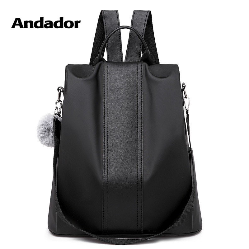 Anti-Theft Backpack Women Shoulder-Bags Larger-Capacity Female Casual New-Fashion Oxford