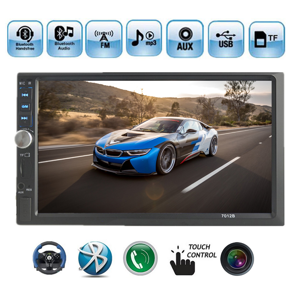 2 Din Car Stereo Radio Player 7 inch HD In Dash Touch Screen Bluetooth Car mp5 Player Support rear camera FM/USB/AUX in 2 din support rear camera car bluetooth gps 7 inch radio touch screen stereo mp4 mp5 player usb 8g map card selection