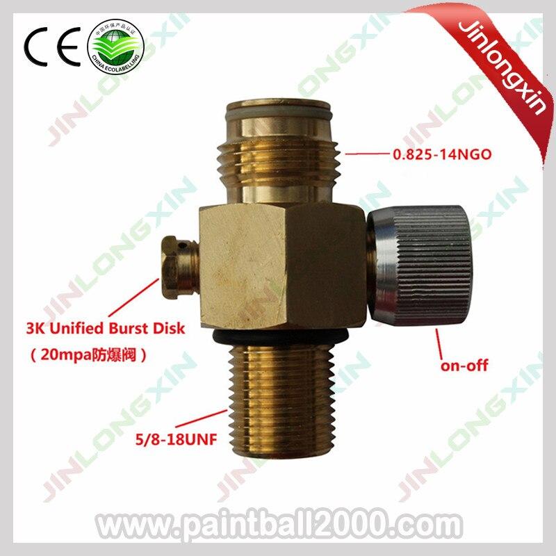 Грязный Пейнтбольный клапан с вкл/выкл 5/8-18UNF нить