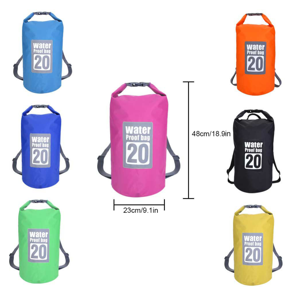 20L Outdoor Waterproof Dry Bag Backpack Sack Storage Bag Rafting Sports Kayaking Canoeing Swimming Bags Travel Kits Backpacks
