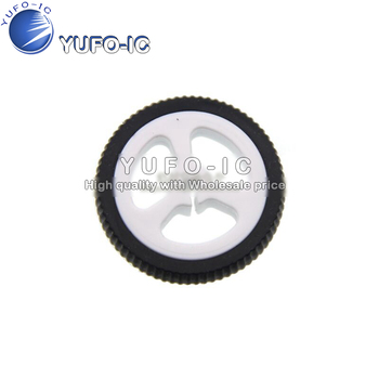 ZJ327 miniQ car N20 motor rubber Wheel diameter 34mm code disk 34*7 image