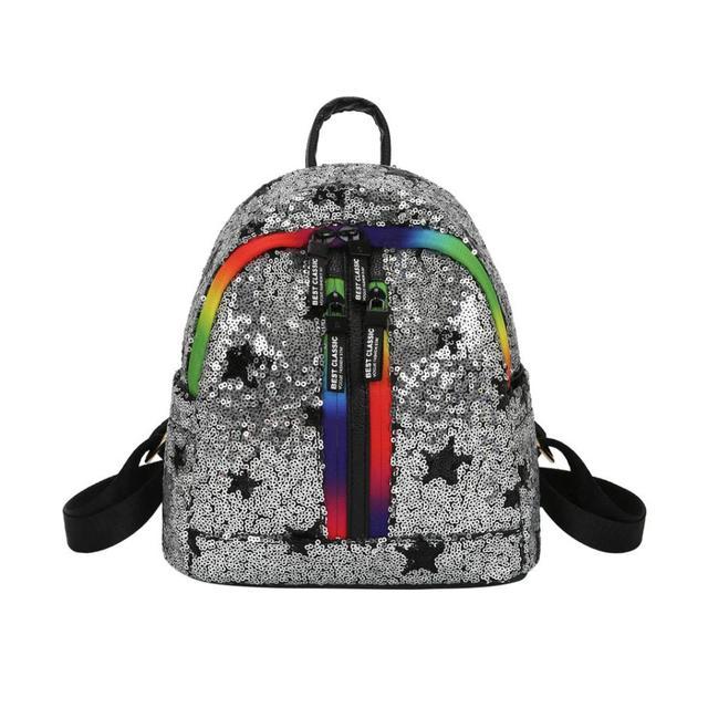 5594f4c48e8f Fashion Schoolbag Backpack for girls Female Backpack mochila feminina Travel  Sequins Letter College Women Bag  23