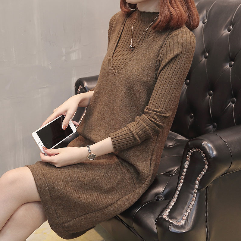 S80820q Maglia Della Pullover Pieno Stile Manicotto Black Con A Di Coreano Sottile Stampa Lavoro Set brown Scollo Vestito Maglioni V Pezzo wine Red Signora Caldo 2 x87qEc1Cw