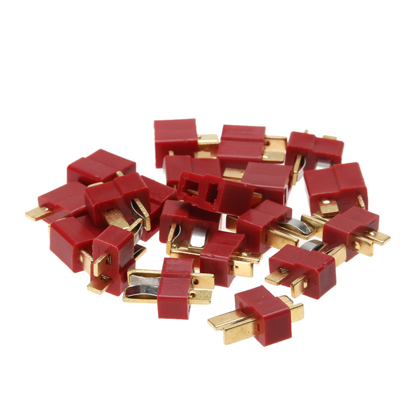 RC Lipo Battery Helicopter 10 Pair T Plug Connectors Male Female for Deans RC Parts Accessories 3pcs battery and european regulation charger with 1 cable 3 line for mjx b3 helicopter 7 4v 1800mah 25c aircraft parts