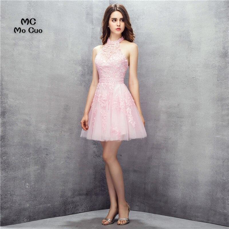 Rosa 2019 Homecoming Kleider A-linie Cap Sleeves Short Mini Organza Spitze Perlen Zwei Stücke Elegante Cocktail Kleider Weddings & Events