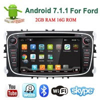 Bosion 2G 32G ROM 2din Android 7.1.1 Car DVD Radio for Ford Mondeo C max S max Wifi 4G GPS Navigation Bluetooth SD Touch Screen