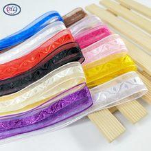 HL 10 meter 20mm breite jacquard band organza Viele Farben geschenk verpackung band hochzeit dekorationen DIY weben A273