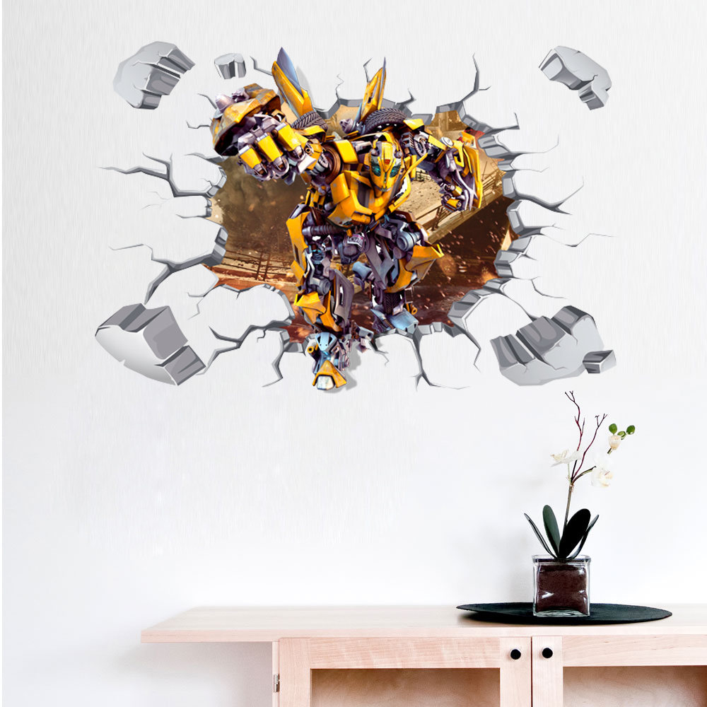 10 pcs/Pack 3D transformateurs OPTIMUS PRIME mur autocollant décor Art décalcomanie vinyle chambre Smash garçons enfants chambre B477