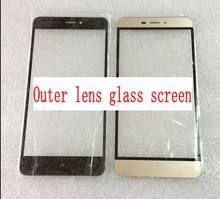 For Gionee P7 Max P7max 2colors free shipping for Qmobile Noir J7 Glass Outer Lens glass screen replacement high quality(China)