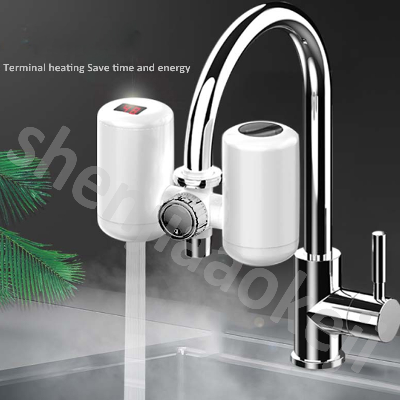 Haushaltsgeräte GroßZüGig Instant Elektrische Heißer Wasser Wasserhahn Installation Wasserhahn Wasserkraft Trennung Typ Geschwindigkeit Heißer Wasserhahn Mit Temperatur Display