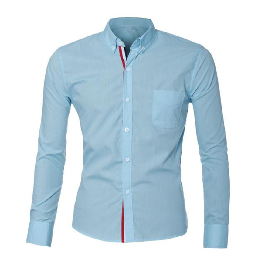 117e2948dc3 Men s Luxury Fashion Mens Luxury Long Sleeve Casual Slim Fit Stylish Dress  Shirts Business Solid Shrits Autumn Spring Suit 4a