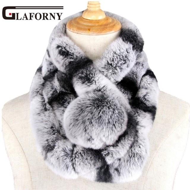 Glaforny 2018 Nouveau hiver beaver lapin laine col écharpe dame hiver chaud  écharpe de fourrure loutre beaed916234