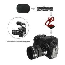 COMICA новая версия CVM-10II полностью металлический мини-чехол на камеру не входит видео микрофон с ударным креплением для смартфона, Gopro