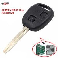 KEYECU Новый дистанционный брелок 2BTN 304 МГц 4D67 чип для Toyota Prado 120 2002-04 P/N: 60120