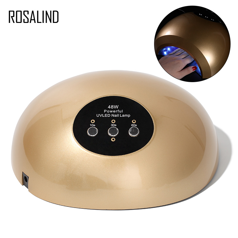 ROSALIND 48W Drying For Nails Art Tool MJD004 UV LED Curing Light Fast Nail Gel Polish Varnish For Manicure Machine Nail DryerROSALIND 48W Drying For Nails Art Tool MJD004 UV LED Curing Light Fast Nail Gel Polish Varnish For Manicure Machine Nail Dryer