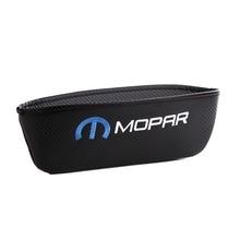 Embroidery for MOPAR emblem Car carbon fiber style seat crevice storage bag Chrysler jeep ford chevrolet accessories