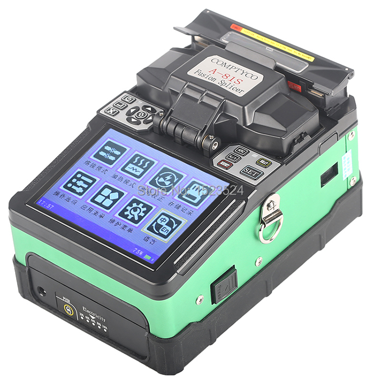 Free Shipping A-81S Green Fully Automatic Fusion Splicer Machine Fiber Optic Fusion Splicer Fiber Optic Splicing Machine