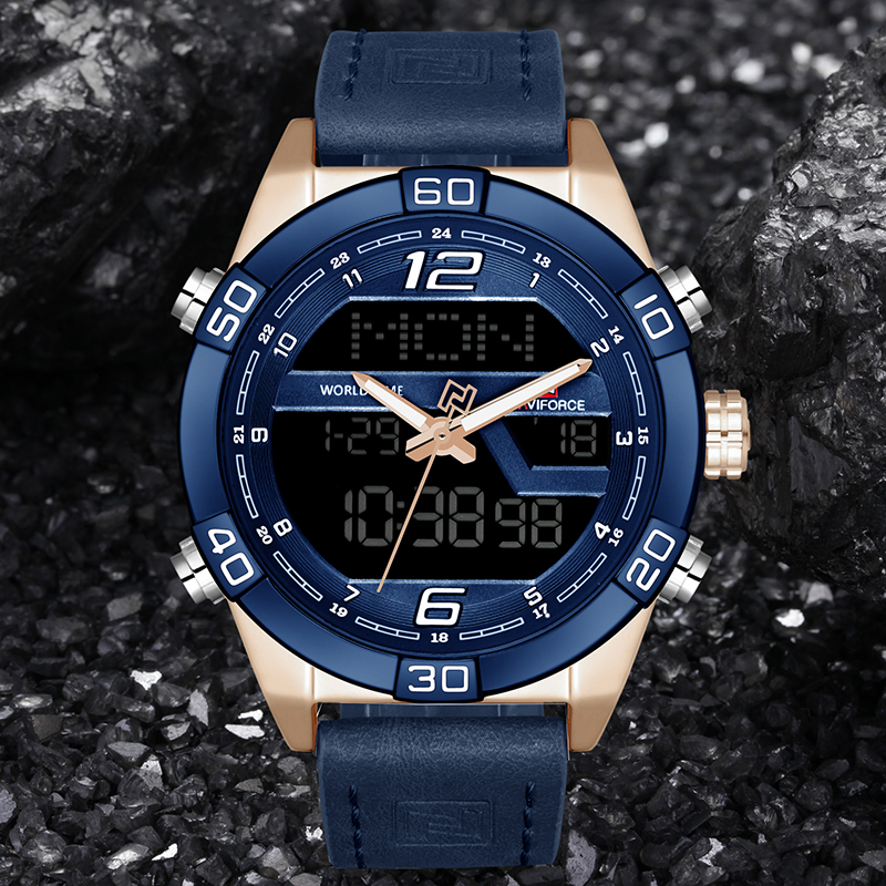 2018 NAVIFORCE Luxury Brand Sports Watches Men's Waterproof Quartz Digital