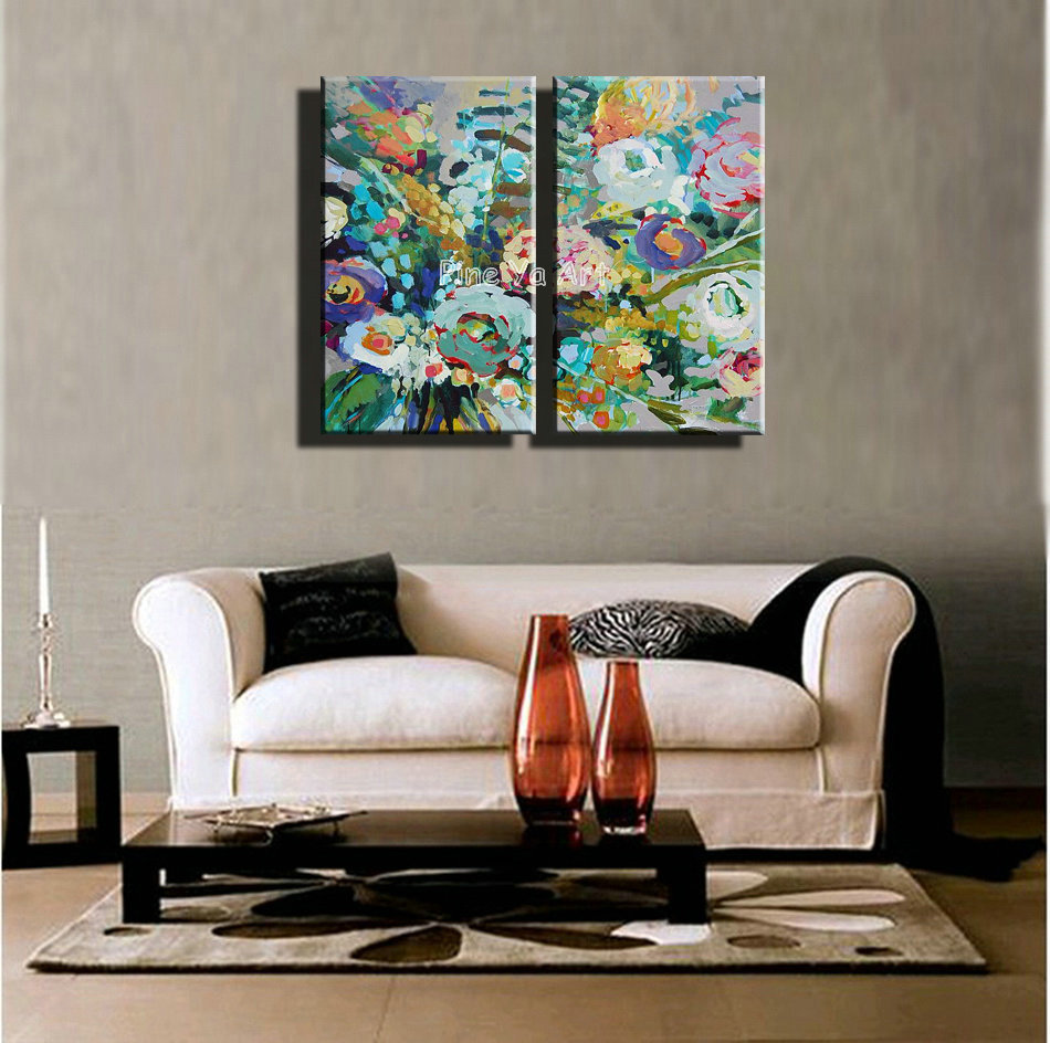 2 panel vintage abstract modern canvas art picture hand painted font b knife b font oil