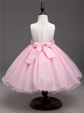 Sparkly Pink Girls Party Dress