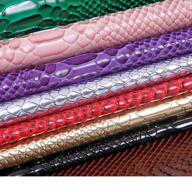 Couro sintético de PVC tecido de pele de cobra   tecido de couro de cobra  1.35 86d573b7af8ce